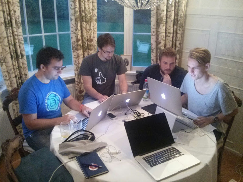 Some of the lead developers in action